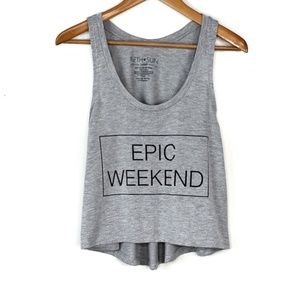 Fifth Sun Epic Weekend High Low Graphic Tank Top